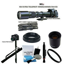 500mm 1000mm Telephoto Lens + Monopod For Canon 70D 60D T3 T3i T4i T5i 5D Camera