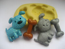 Standing dog & bone 27mm flexible silicone mold for fondant clay & more
