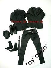 1/6 TOYS CUSTOM FASHION BLACK SLIM CUT SUIT SET FIT FOR HOTTOYS SLIM BODY D.HOMM
