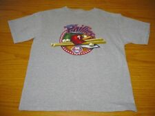 NEW MLB PHILADELPHIA PHILLIES GRAY T-SHIRT BOYS L 14 MAJESTIC COTTON BLEND