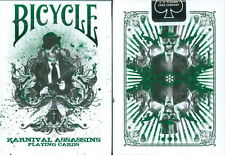 CARTE DA GIOCO BICYCLE KARNIVAL ASSASSINS GREEN,poker size