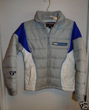 Thor MotoCross Quilted Nylon Jacket XS Gray/White/Blue