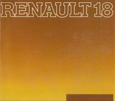 Renault 18 Estate 1979-80 UK Market Sales Brochure TS TL