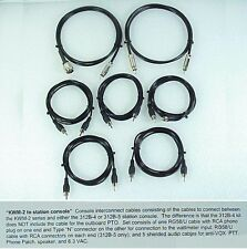 Collins Premium Cable Set for the KWM-2 /2A to 312B-5 Console with Belden RG-58U