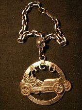 porte clefs automobile ancienne ACO chaine argent course 1910 métal