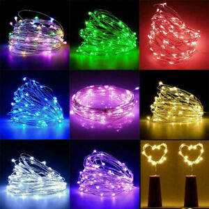 20 LED Wine Bottle Fairy String Lights Battery Cork Shaped Xmas Wedding Party 2M