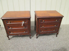 57479 Pair Cherry French Country Bachelor Chest Dresser s