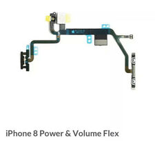 "Para iPhone 8 4.7"" Power Volume Flex Con Soporte De Metal-Lock On Off Botón"