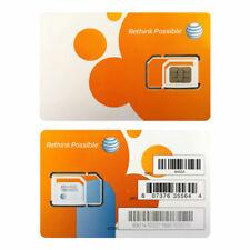 New At&T Go Phone Nano Sim Card 4G Lte Sim Card Unactivated_3 In 1 Triple Cut