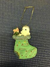 TN9- Cute Christmas Ornament w/ Puppy In A Stocking