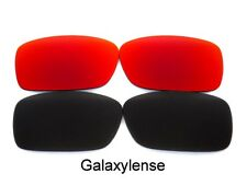 Galaxy Replacement Lenses For Oakley Crankcase Black&Red Polarized 2 Pairs