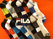 FILA SHOCK DRY ATHLETIC SOCKS  (6 PAIRS) 1 LOT - USA SELLER