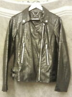 NEW  -  K A R E N - M I L L E N  -  Ladies BLACK FAUX LEATHER LINED JACKET - 38.