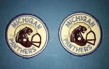 2 Lot Rare Vintage 1983 USFL Michigan Panthers Football Jacket Hat Patches B