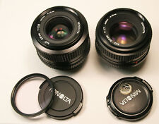 MINOLTA MD 28mm f2.8 Wide Angle & 50mm f1.7 Manual Focus Lens MINT