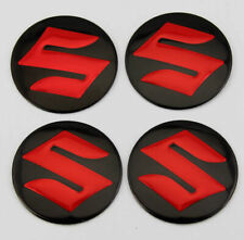 "2.2"" Red Auto Wheel Center Hub Caps Emblem Badge Decal Stickers For SUZUKI Decor"