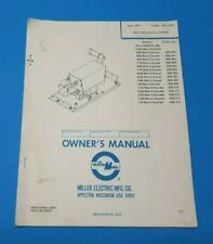 Miller Millermatic 30e Owners Parts Manual Om 1235c B1