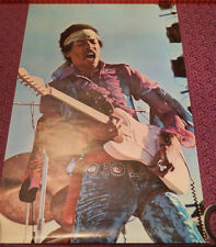 Jimi Hendrix Poster In Concert Circa 1969 - 1970 Original Super Rare Near Mint