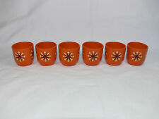 Vintage EMSA Germany ATOMIC Egg Cups Set of 6 - RETRO 1960's Kitchen - Exc Cond
