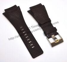 Comp. Diesel DZ1368 DZ1369 - 28mm x 40mm Brown Genuine Leather Watch Strap Band
