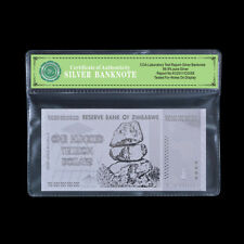 WR 2008 Zimbabwe 100 Trillion Dollars Note Bill .999 Silver Banknote /w COA Case