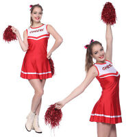 Womens High School Glee Sports Cheerleading Costume Cheerleader Fancy Dress