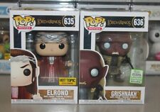 Funko Pop! Lord of the Rings: ELROND HT and GRISHNAKH ECCC Exclusives - NEW, NM!
