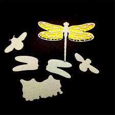 1set dragonfly cutting dies stencil scrapbook album paper embossing craft diyQM