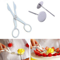 Piping Flower Scissors+Nails Icing Bake Cake Decorating Cupcake Pastry Tools Kit