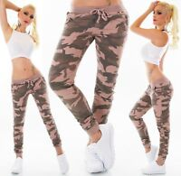Hip Baggy Jeans Camouflage Pants Tube Boyfriend Jeans Army Military Trouser 8-16