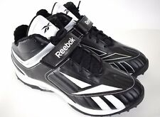 REEBOK NFL EQUIPMENT SZ13.5 Pro Full Blitz KFSII MP Football Shoes Black/Wht New
