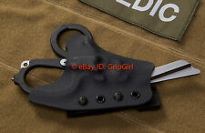 Custom Kydex Black Holster for Leatherman Raptor Trauma Shears IFAK Medic TCCC