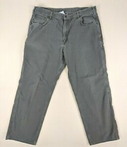Carhartt B159 DMS Loose Fit Canvas Carpenter Pants Green Men's Size 40x32