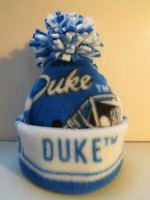 DUKE BLUE DEVILS UNIVERSITY BABY HAT HANDCRAFTED newborn BEANIE CAP FLEECE NCAA