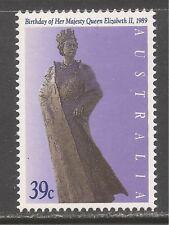Australia #1140 (A403) MNH - 1989 39c Queen Elizabeth II, 63rd Birthday / Statue