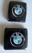 Pair of Black BMW motorcycle front & rear brake reservoir shrouds covers socks