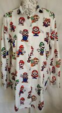 "WOMENS LOOSE FIT SUPER MARIO BROS. LONG SHIRT BLOUSE NEW 1 SIZE BUST 45"" 114 CM"