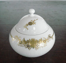 Rosenthal Handgemalt Hand Painted 'Romance in Major' Gold Sugar Bowl #3624
