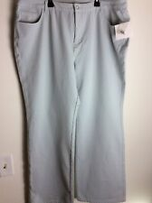 Quacker Factory Dream Jeannes Bootcut Light Gray 22W NWT