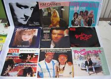 Lot 9 45 Records Collins Poco Tiffany Keith Willie Nelson Stewart Picture Slee