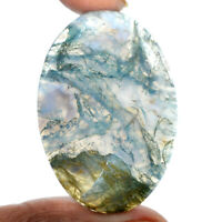Cts. 69.20 Natural Green Tree Moss Agate Cabochon Oval Cab Loose Gemstones