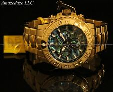 Invicta Men Subaqua Noma II LE 18K Gold Plated Stainless St Chronograph Watch !!