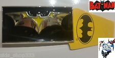 ~ NEW BATMAN BATARANG ~ blk ylw chr METAL BELT BUCKLE ~ great for comic con