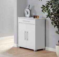 Sorento White Storage Cabinet 2 Door Cupboard Multi Purpose With Internal Shelf