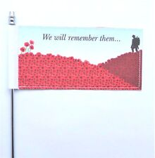 Remembrance Day Poppy We Will Remember Them Ultimate Table Flag