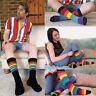 Sock Snob - 3 Pack Mens Womens Coloured Novelty Fun Striped Cotton Rainbow Socks
