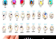 30Pcs 3D Luxury Nail Art Rhinestones and Charms Large Crystals Diamonds Gems .