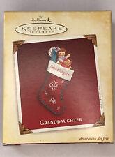 NEW IN BOX  Hallmark Keepsake Granddaughter Christmas Ornament - 2005 Stocking