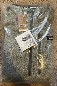 New Patagonia Mens XLarge XL Better Sweater Fleece 1/4 Zip Jacket Pullover Gray