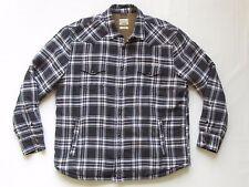 Lucky Brand XL Western Jacket Sherpa Lined Black White Plaid Lumberjack Coat Men